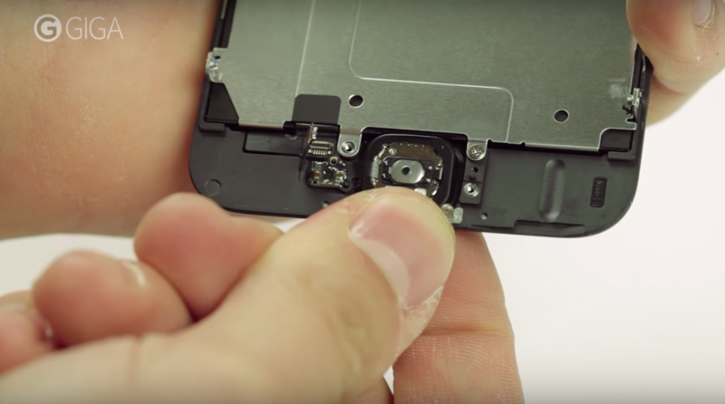 diy screen replacement remove home button