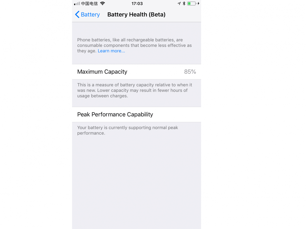 iphone battery health tool