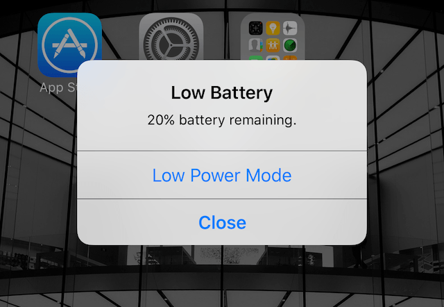 critical low battery alert