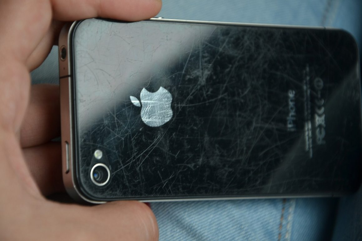scratched iphone