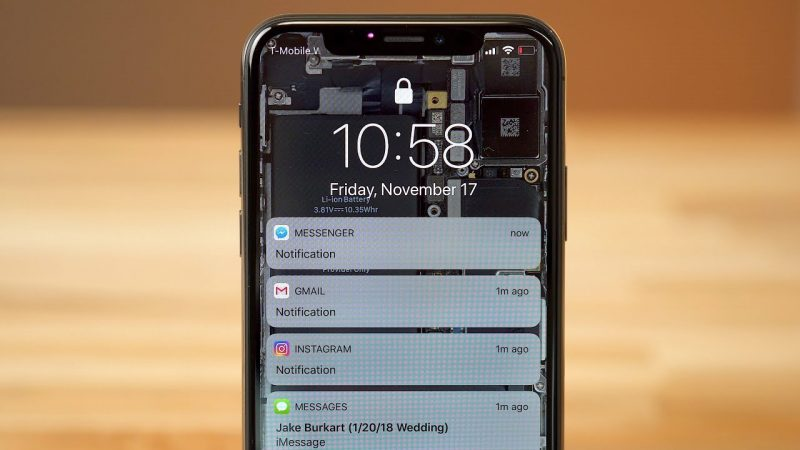 iOS Notification apercu