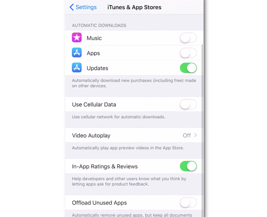 disable video autoplay iphone