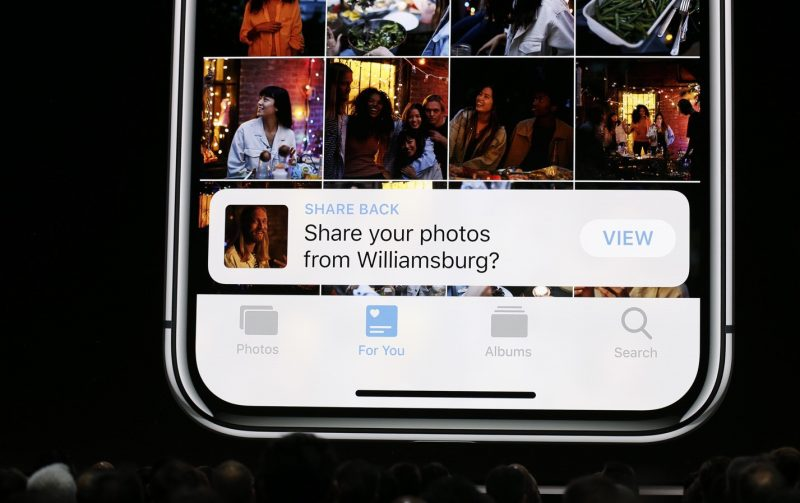 Improvements to Photo App apple announcements wwdc2018