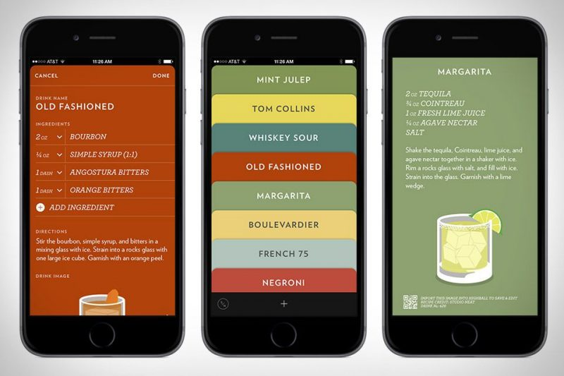 cocktail app for iphone