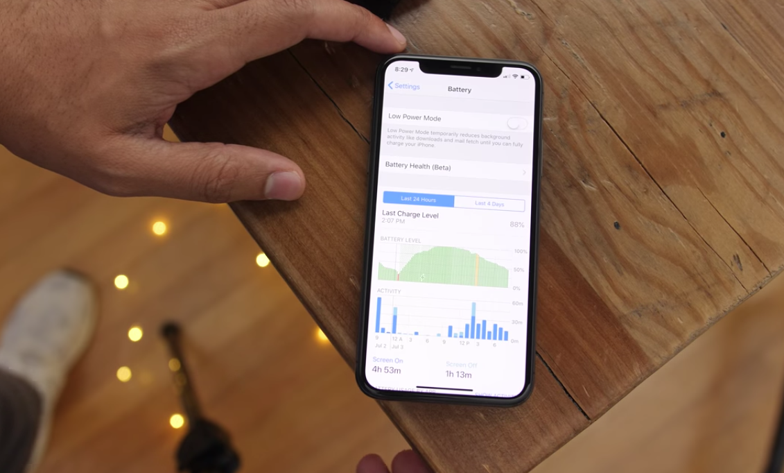 battery statistics ios 12 new features