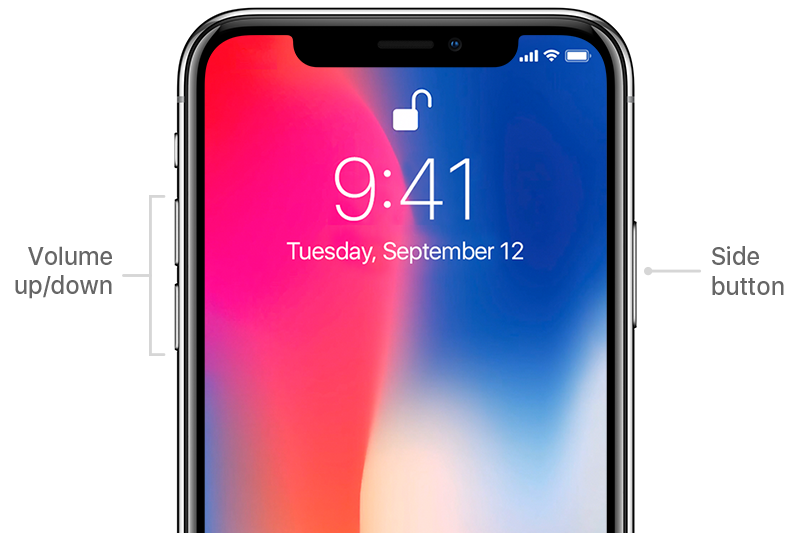 iPhone X Hard Restart, Restart iPhone X, Tips for iPhone X