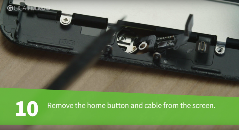 diy remove iphone 8 home button and cable
