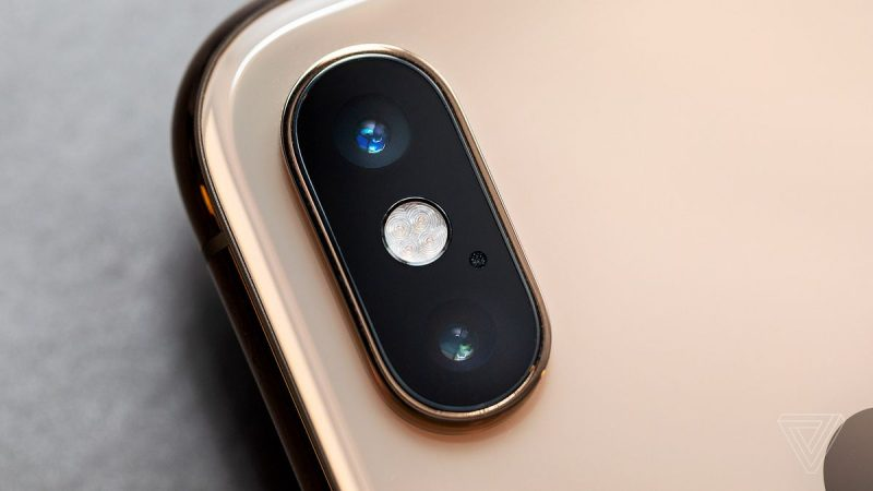Back of iPhone XS With Two Lenses
